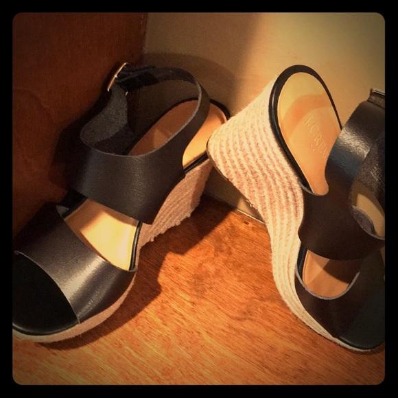 J. Crew Shoes - J Crew slingback wedges